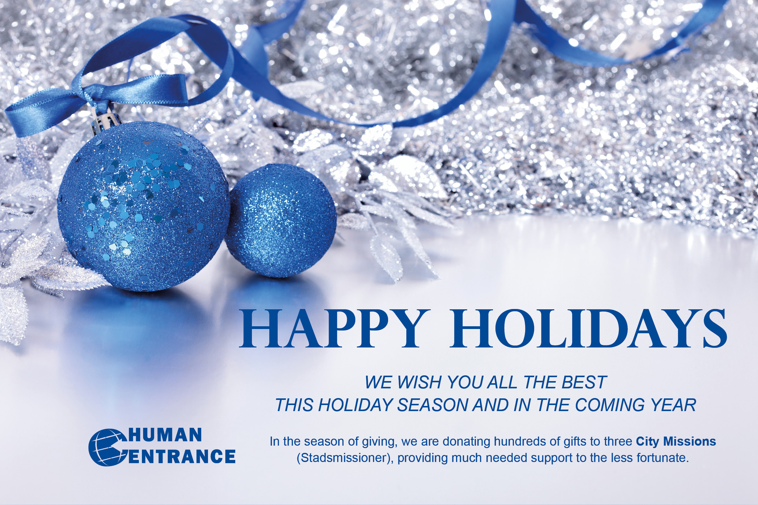 Human Entrance Holiday Greeting 2018